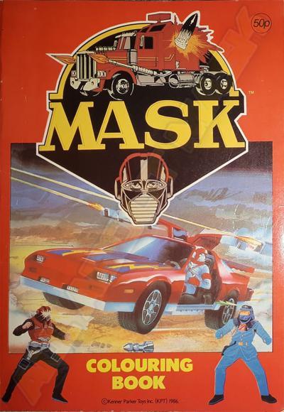 M.A.S.K. M.A.S.K. Coloring book Matt Trakker, Miles Mayhem & Thunderhawk